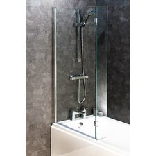 138.5cm x 83cm Hinged Bath Screen