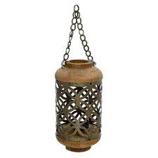 Metal/Wooden Outdoor Lantern