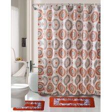 Skylar 15 Piece Printed Shower Curtain Set
