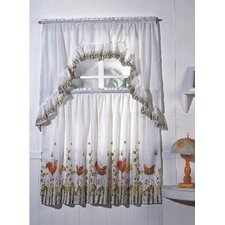 Rooster Drape/Curtain Set