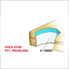 "Dreamweaver The Ultimate 9"" Gold Star Waterbed Mattress"