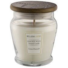 Fragrance Linen Damask Jar Candle