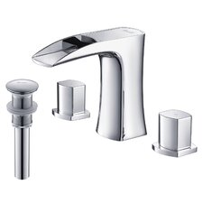 Carrion Widespread Lead-Free Brass Bathroom Faucet with Pop Up Drain