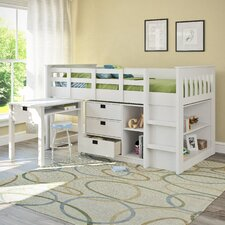 Madison Twin Low Loft Bed with Storage
