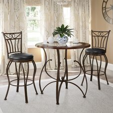 Gravity 3 Piece Counter Height Dinning Set