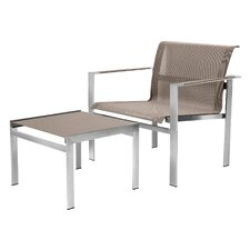 Ec-Inoks Lounge Chair and Ottoman