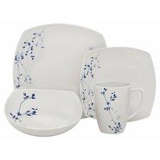 Indigo Garden Porcelain 32 Piece Dinnerware Set