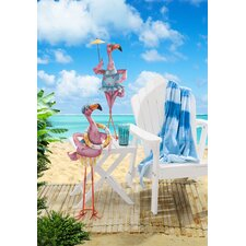 Eccentric 2 Piece Flamingo Couple Garden Statue Set