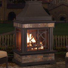 Heirloom Steel Wood Burning Outdoor Outdoor Fireplace