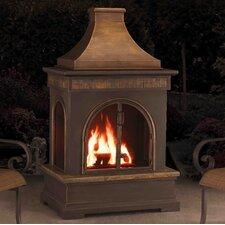Hardy Slate and Steel Outdoor Fireplace