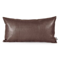 Kidney Faux Leather Throw Pillow