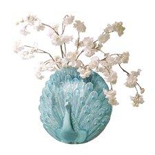 Peacock Wall Vase