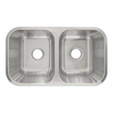 """31.5"""" x 18.13"""" Undermount Double Basin Kitchen Sink"""