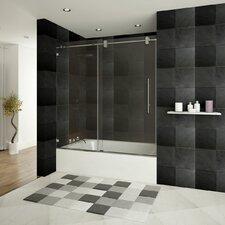 "Ultra-D 62"" x 60"" Sliding Glass Bath Tub Door"