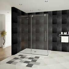 "Ultra-D 60"" x 36"" x 79"" Sliding High Glass Shower Enclosure"