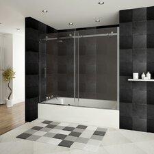 "Ultra-B 62"" x 60"" Sliding Glass Bath Tub Door"