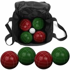 9 Piece Bocce Ball Game Set with Nylon Bag