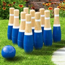 13 Piece Wooden Lawn Bowling Set