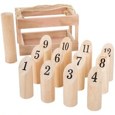 14 Piece Molkky Throwing Game Set