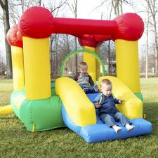 16 Piece Inflatable Bounce House Set with Slide and Hoop