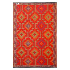 Lhasa Hand-Woven Red Indoor/Outdoor Area Rug