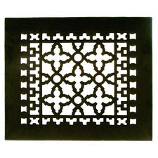 """8"""" x 10"""" Cast Iron Grille in Black"""