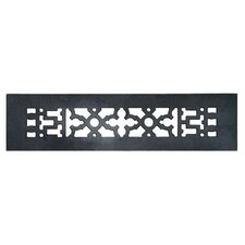 """2.25"""" x 12"""" Cast Iron Grille in Black"""