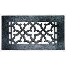 "4"" x 8"" Cast Iron Grille in Black"