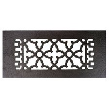 """4"""" x 10"""" Cast Iron Grille in Black"""