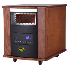 Thermal Wave 1,500 Watt Portable Electric Infrared Heater with UV Germicidal Air Purification and Remote Control