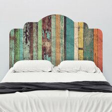Distressed Panels Adhesive Headboard Wall Mural