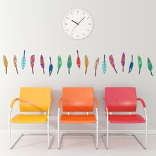 Decorative Feathers Mini-Pack Wall Decal