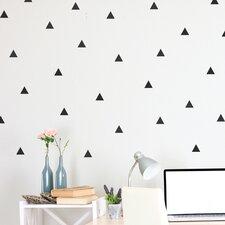 72 Piece Triangle Wall Decal Set