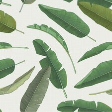 "Banana Leaf Removable 8' x 20"" Botanical Wallpaper"