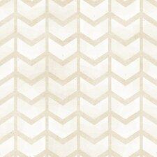"Golden Arrows Removable 8' x 20"" Herringbone Wallpaper"
