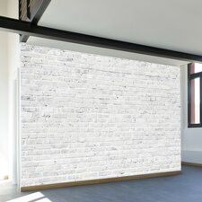 Washed Brick Adhesive Wall Mural