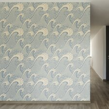 "Waves of Chic Removable 8' x 20"" Abstract Wallpaper"