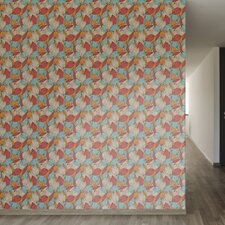 "Colorful Autumn Removable 8' x 20"" Floral Wallpaper"