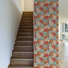 "Colorful Autumn Removable 10' x 20"" Floral Wallpaper"
