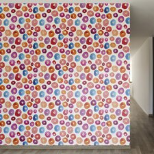 """A Pop of Color Removable 8' x 20"""" Abstract Wallpaper"""