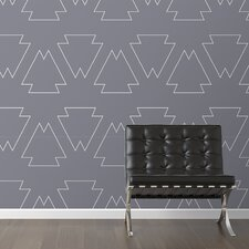 "Tribal Chic Removable 10' x 20"" Geometric Wallpaper"