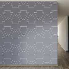 "Tribal Chic Removable 8' x 20"" Geometric Wallpaper"