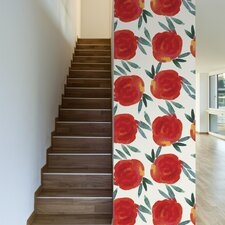 """Kissed by a Rose Removable 10' x 20"""" Floral Wallpaper"""
