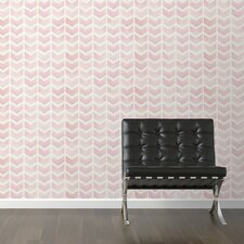 "Rose Removable 10' x 20"" Chevron Wallpaper"