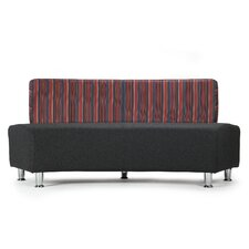Silver 2 Seater Concave Unit Sofa