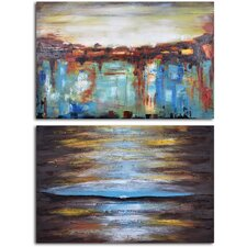 'Ante Meridian and Post Meridian' 2 Piece Original Painting on Canvas Set