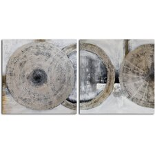 'Cymbals' 2 Piece Original Painting on Canvas Set