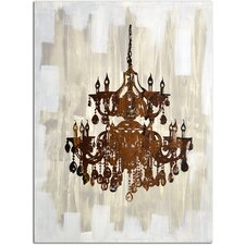 Antique Chandelier Reflection Original Painting on Canvas