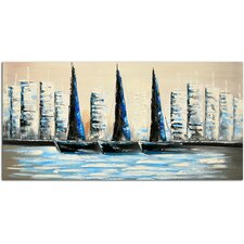 Summer Sailing Original Painting on Canvas
