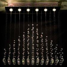 Design-Pendelleuchte 6-flamig Rain